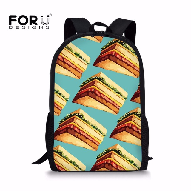 FORUDESIGNS Schoolbags 3D Sandwich Print Book Bags Fit Shoulder for 9-11 years  old Boys Girls Children Students School Rucksack 5e68f2113