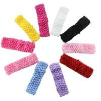 10 unids/lote chicas elástico Crochet banda de Pelo elástico recién nacido niños tutú Crochet diadema para niñas bandas de pelo accesorios para el cabello