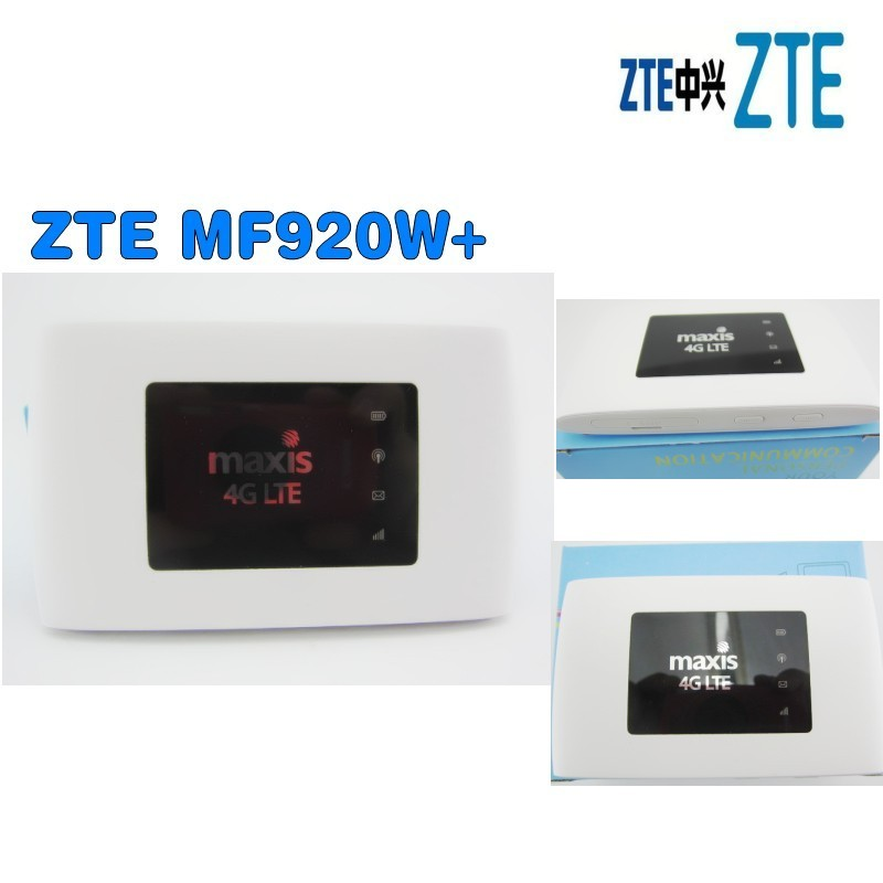 UNLOCKED ZTE MF920 MF920w 4G FDD/TDD-LTE Wifi Router Max Up 32 Devices LED free shipping g4 fdd tdd 150m portable 4g lte wifi router