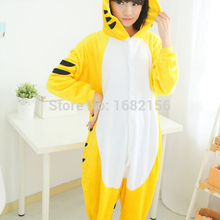 f3e80a58c Kigurumi nuevo Unisex adulto Animal amarillo Tigre pijamas de invierno  pijama ropa de dormir pijamas de