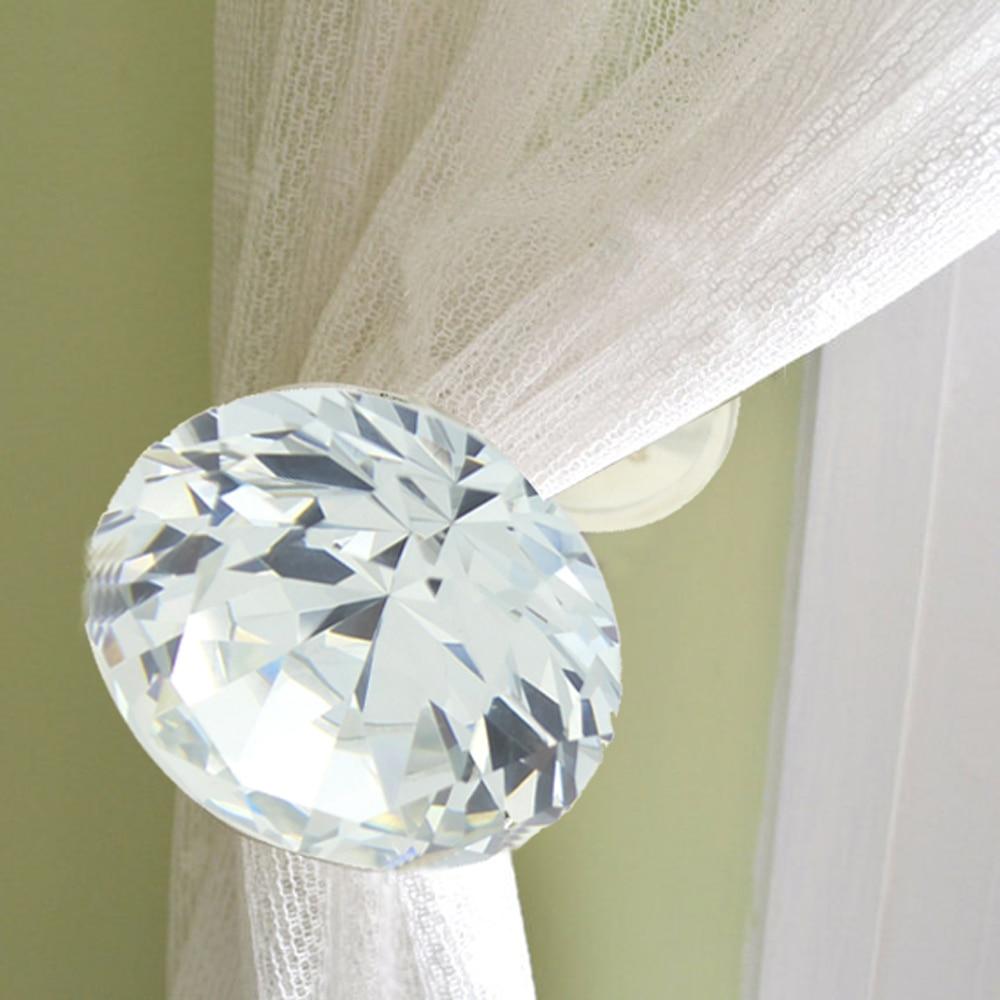Glass curtain holdbacks - Online Shop 2pcs 40mm Glass Crystal Curtain Hold Backs Tie Back Wall Hook Tassel Holder Silver Clear Aliexpress Mobile
