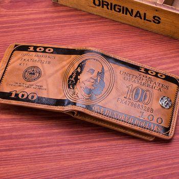 Nuevo tipo de cartera para hombre a la moda con bolsillos para Cuero clásico de crédito/soporte de tarjetas de identidad AP US Doll