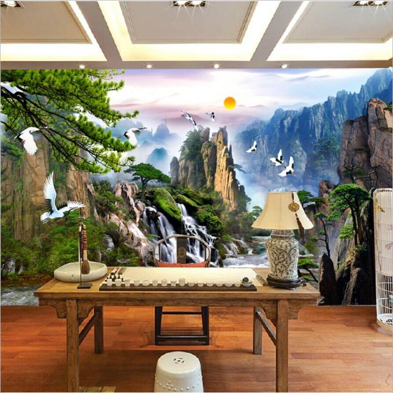 Beibehang China Paisagem Foto Papel De Parede Mural Mural Papel De Parede  Decoração Home Da Parede Part 48