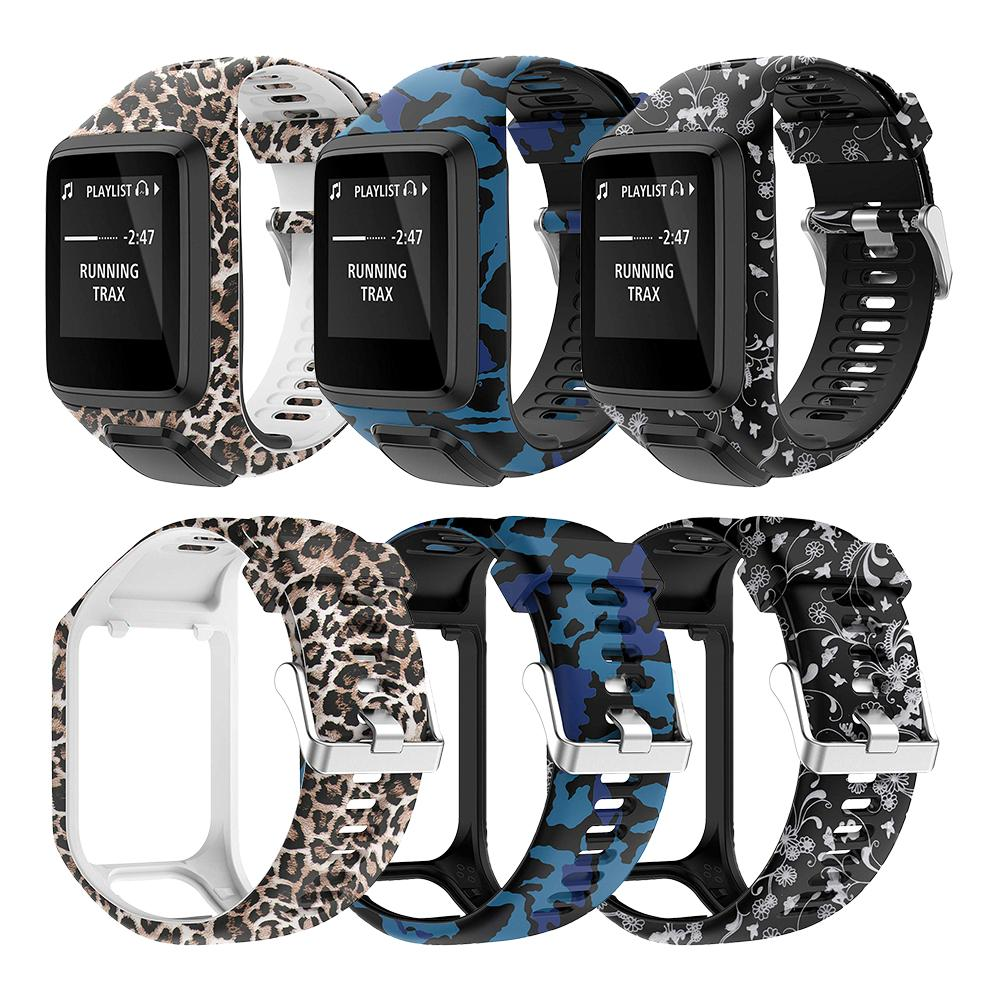 New Printed Replacement Watchband Wrist Band Strap For TomTom 2 3 Series Runner 2 3 Spark Series Golfer 2 Adventurer GPS Watch