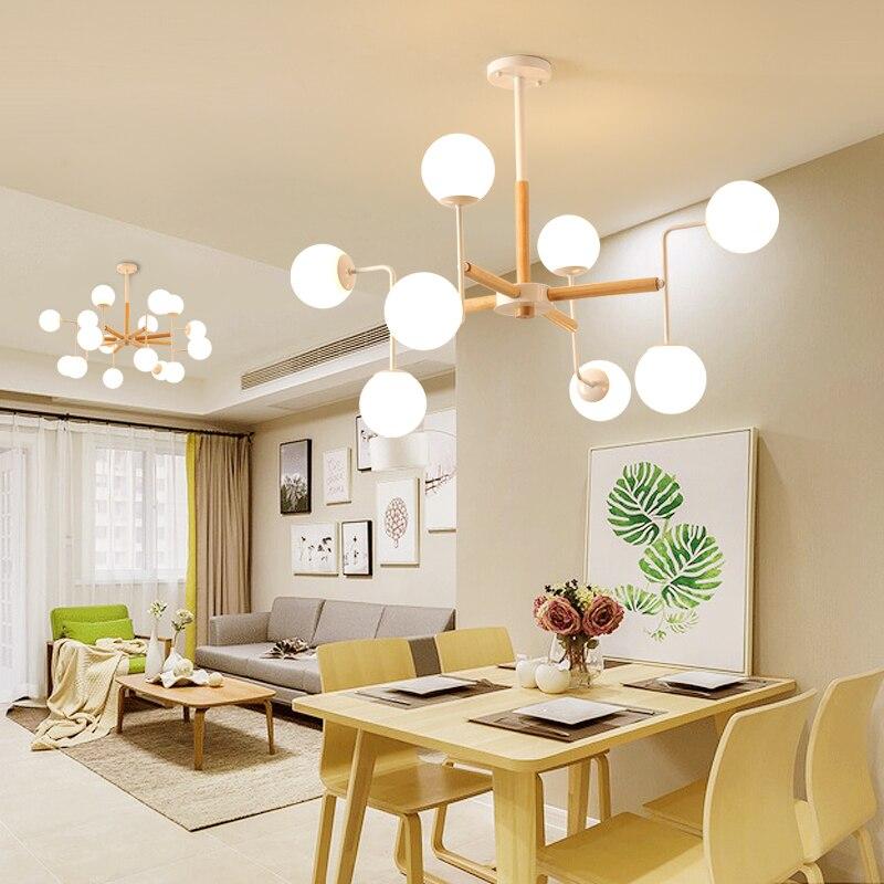 Post-moderno di personalità del progettista creative multi-pendente luce palla di vetro nordic fagioli magici le molecole di bolla lampada A sospensione A LED