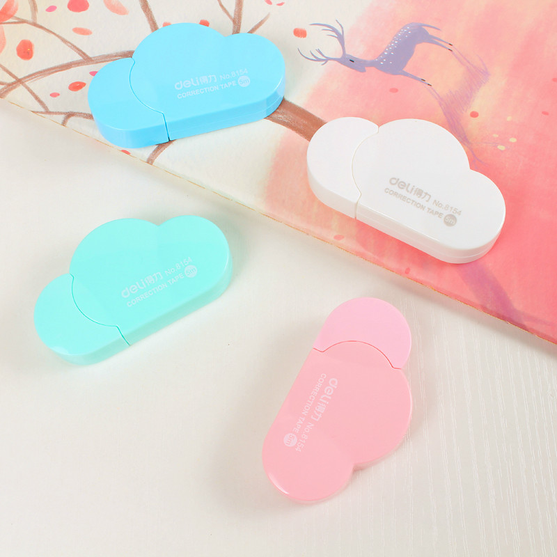 1Pcs Cute Kawaii Mini Small Fresh Creative Clouds Modeling 5m Correction Tape Candy Color DIY Kids Stationery XZD001C