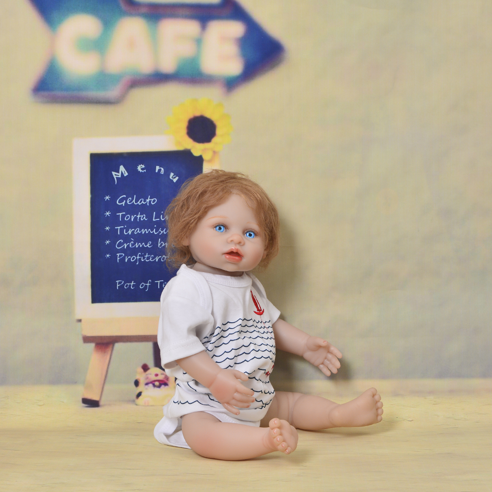 New Style 20 Inch Reborn Baby Doll 50 cm Full Silicone Body Realistic Simulation Baby Doll For Boy Kid Christmas Gift Play Toy цена
