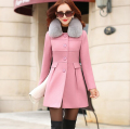 Hot sales 2016 Autumn Winter women Coat Long Outwear belt long-sleeved coat warm winter wool coat free shipping