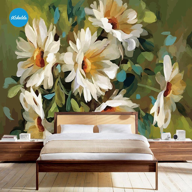 XCHELDA Custom 3D Wallpaper Design White Chrysanthemum Photo Kitchen Bedroom Living Room Wall Murals Papel De Parede mukund shiragur d p kumar and venkat rao chrysanthemum genetic divergence