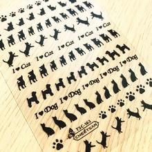 TSC series Tsc-163   3d nail art stickers decal cheetsan brand template diy nail tool decorations цена