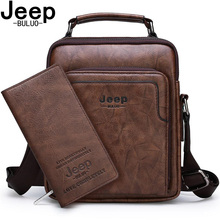 JEEP BULUO Brand High Quality Leather Business Casual Crossbody Shoulder Tote Bags For Men Men Messenger Bag Set New Arrivals сумка brand new a c 2015 messenger 18colors 24