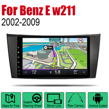 Android 2 Din Auto Radio For Mercedes Benz E class w211 2002~2009 NTG Car Multimedia Player GPS Navigation System Radio Stereo liislee for mercedes benz e class mb w211 2002 2009 car multimedia tv dvd gps radio carplay original style navigation navi