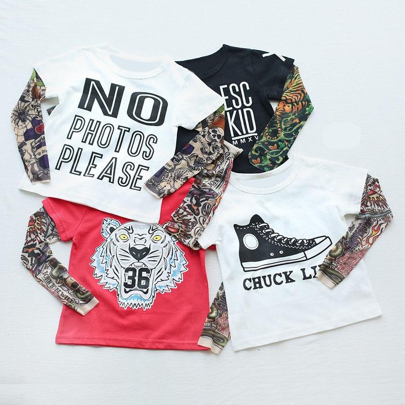 Boy T-Shirt Tattoo SORRY Long-Sleeve Baby-Girls Not-Sorry/hipster Children Print Cotton