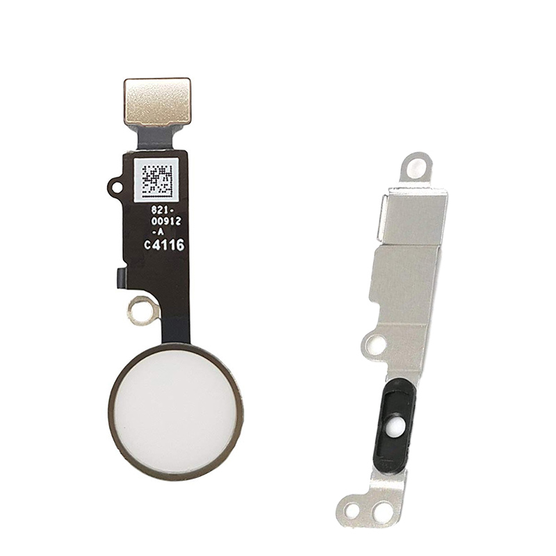 HOUSTMUST 2pcs /lot Home Button With Flex Cable For IPhone 7 / 7plus Home Button Flex+metal Bracket Assembly