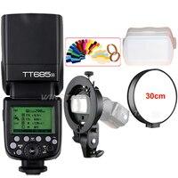 Godox TT685 TT685N 2.4G Wireless HSS 1/8000s i TTL Camera Flash Speedlite + Bowens S Type Bracket for Nikon DSLR Cameras