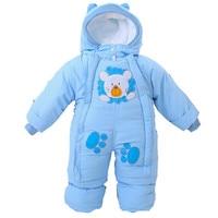 2016 Autumn Winter Newborn Baby Thick Rompers Children Wadded Jacket Kids Warm Cotton Padded Fleece Animal