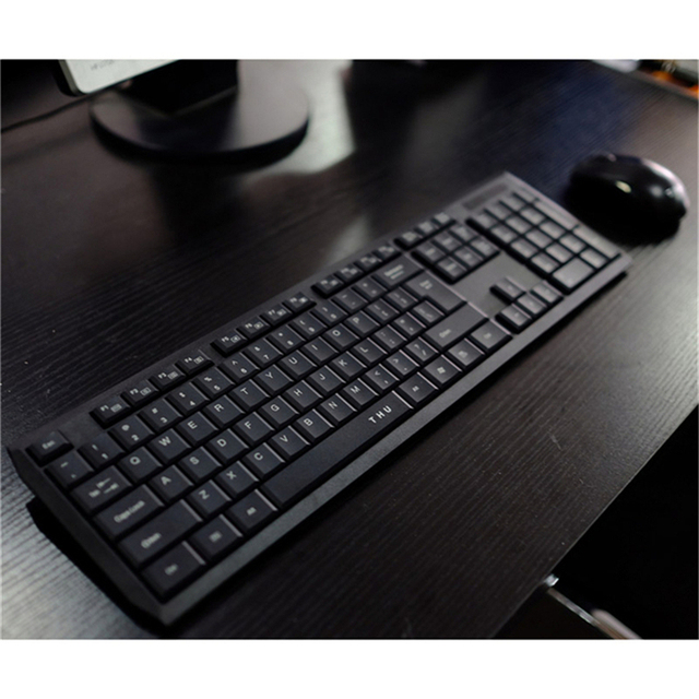Wireless Waterproof Black Keyboard and Mouse