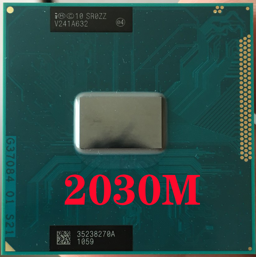 Intel Pentium 2030M  SR0ZZ Laptop processor Socket G2 rPGA988B notebook cpu 100% working properly-in CPUs from Computer & Office on