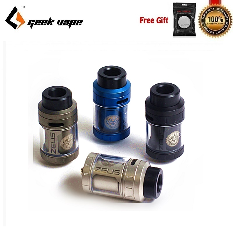 Geekvape Zeus RTA Vaporisateur Réservoir 4 ml 25mm Cigarette Électronique Atomiseur Fit pour Geekvape L'égide Boîte Mod Fuite Preuve avec 3D Flux D'air