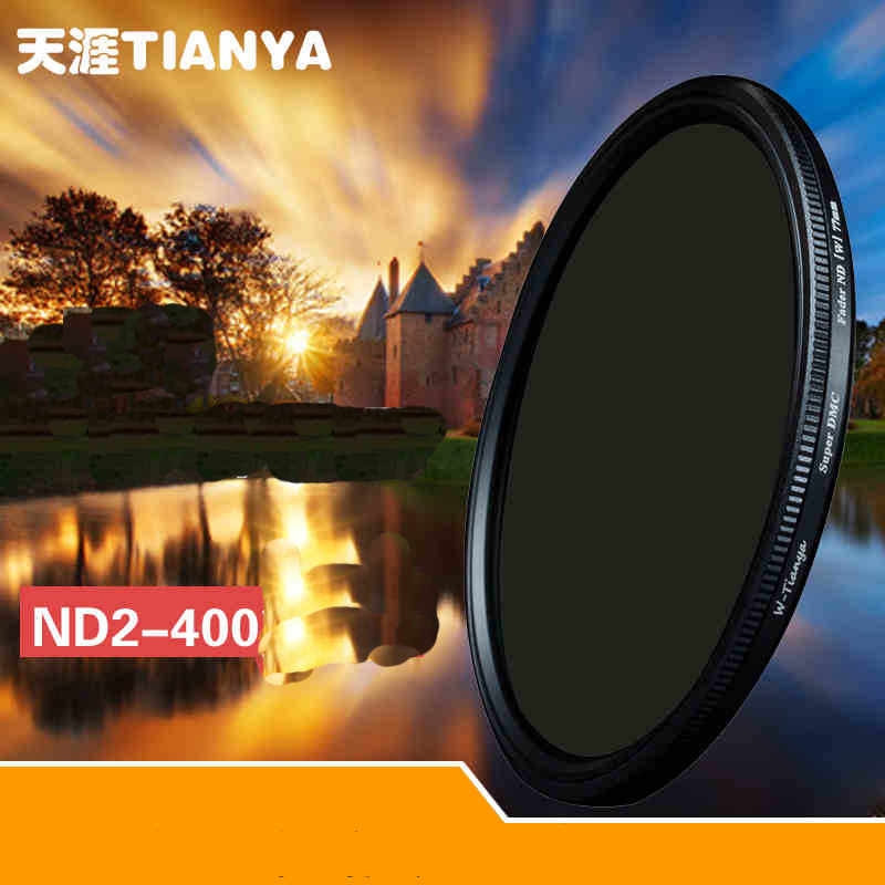 WTIANYA 77mm Slim ND2 ND400 Neutral Density Fader Variable ND Filter Adjustable TIANYA For Canon Nikon Sony DSLR
