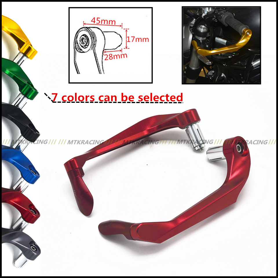 Aluminum protection Handlebar Universal 7/8 brake clutch lever Protect Guard for KAWASAKI Z250 Z750 Z800 Z1000 for 22mm 7 8 handlebar motorcycle dirt bike universal stunt clutch lever assembly cnc aluminum