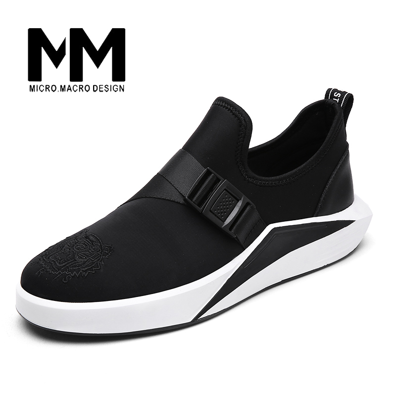 MICRO. MACRO Men Casual Shoe 2017 Spring New Design Light weight Breathable Comfortable Mesh Trainers shoe  Tiger pattern 1712 micro micro 2017 men casual shoes comfortable spring fashion breathable white shoes swallow pattern microfiber shoe yj a081