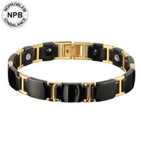 Noproblem choker anti fatigue hologram metal infinity punk 99.99% pure Germanium powder bead bracelet for men