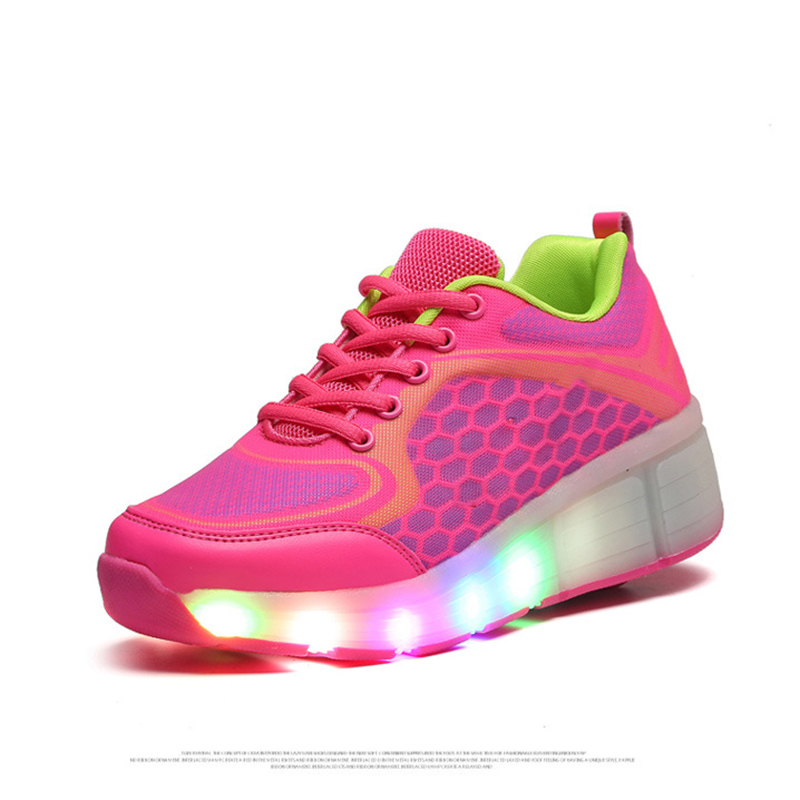 Kids shoes Shoes with LED Lights Children 2017 Shoes sapatos Kids Sneakers with Led Light Up for Boys Girls glowing sneakers usb charging shoes lights up colorful led kids luminous sneakers glowing sneakers black led shoes for boys