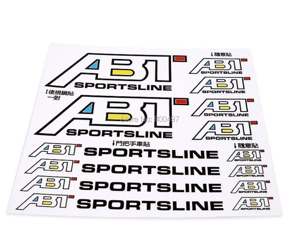Ny bilstyling ABT-dekal Dekorativ bagspejlgreb Vinylklistermærker til Volkswagen Audi ABT A1 A3 A4 A5 A6 A7 TT R8 Q3 Q5 Q7