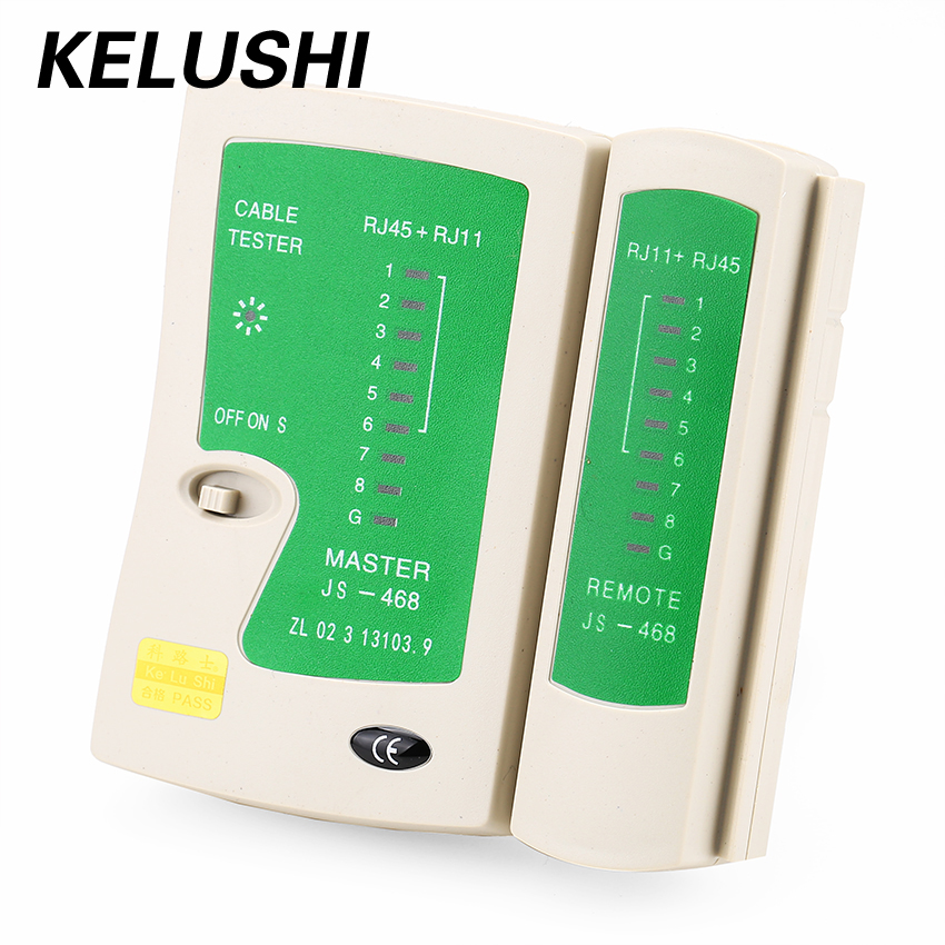 KELUSHI Free Shipping JS468 RJ11 RJ45 Network Cable Tester Telephone Lines Multifunctional with High Quality