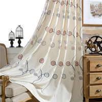 Carnaval folha de algodão bordado cortinas para o quarto qualidade cortina para sala luxo rideaux pour le salão CL-206