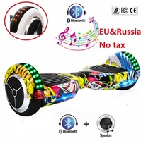 Hoverboard 6.5 Electric Scooter Bluetooth Overboard Self Smart Balance Two Wheel Self Balancing Scooter Skateboard LED Light
