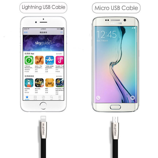 Durable USB Cable for Lightning iPhone 7 6S 6 Plus SE 5S 5 Micro USB Cable for Samsung S7 S6 Xiaomi LG Fast Charger Adapter Cord