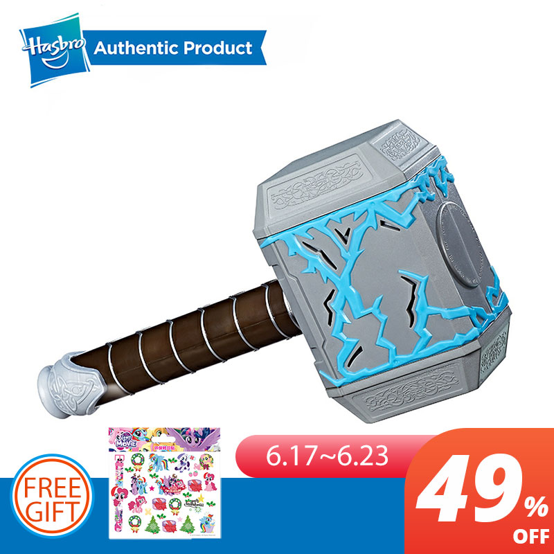 Galleria fotografica Hasbro Marvel Thor Ragnarok Thor Rumble Strike Hammer Avengers Action Figure Collectible Model Boys Toy With Sound Effects Gift