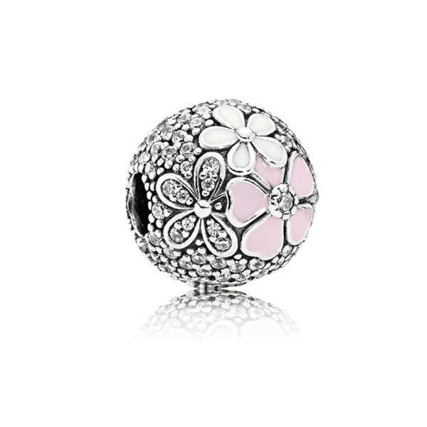 Hot Sale Party Beads Hope Flowers Love Hearts Crystal Charms Beads Fit Pandora Women Bracelets & Bangles DIY Jewelry Femme Gifts