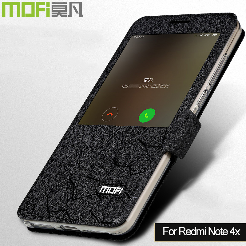 Xiaomi Redmi Note 4x case cover silicon Note4x MOFi Xiomi Redmi Note 4 x case flip leather coque funds black gold