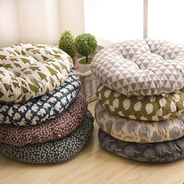 HTB1WHSbKb5YBuNjSspoq6zeNFXag Round Shape 2 Size Seat Cushion Silk Cotton Core Cotton Polyester Tatami Cushion Pillow Home Decoration Car Soft Sofa Cushion