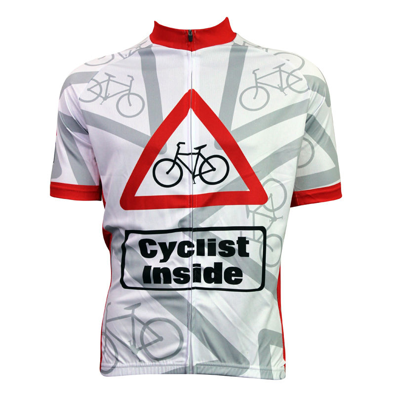 ФОТО Alien SportsWear Cyclist Inside Pattern Cycling Apparel For Men Summer Breathable White top Sleeve top bike Size XS-5XL
