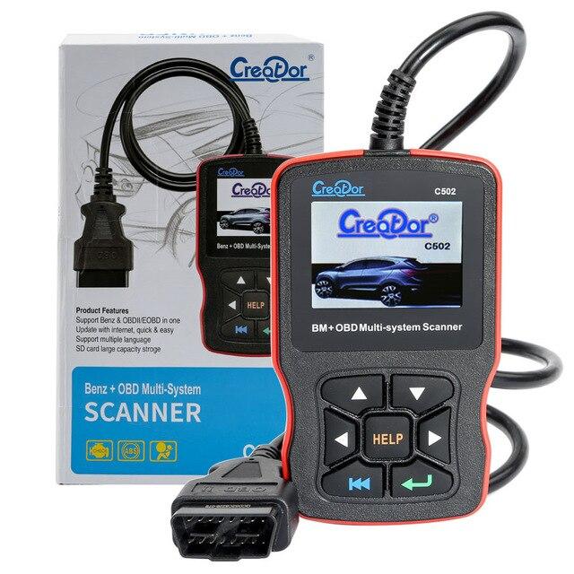 Créateur C502 OBD2 outils de Diagnostic pour Mercedes Benz W211 W210 C200 W203 W204 Support ABS Airbag OBD 2 Autoscanner lecteur de Code