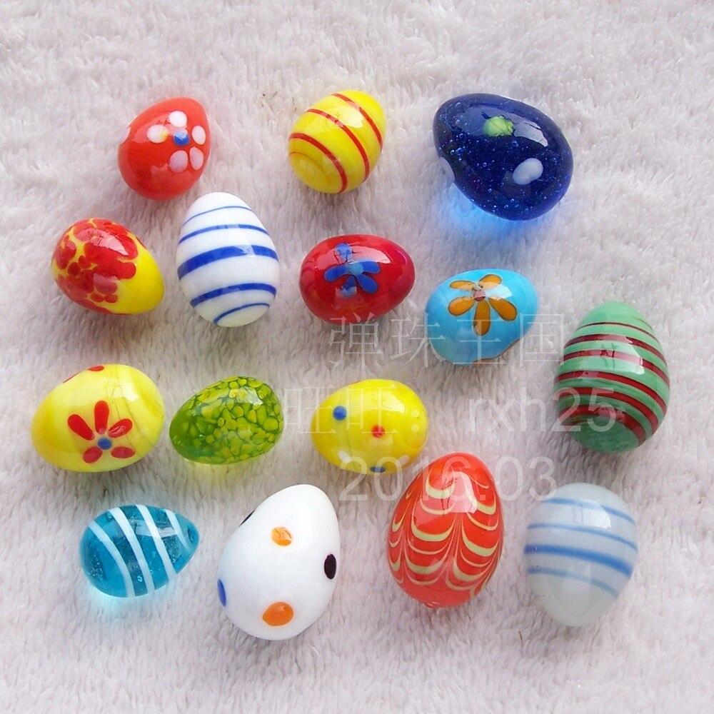 Free shipping 15pcs lot Lovely Easter eggs Easter eggs Glass marbles glass egg suit