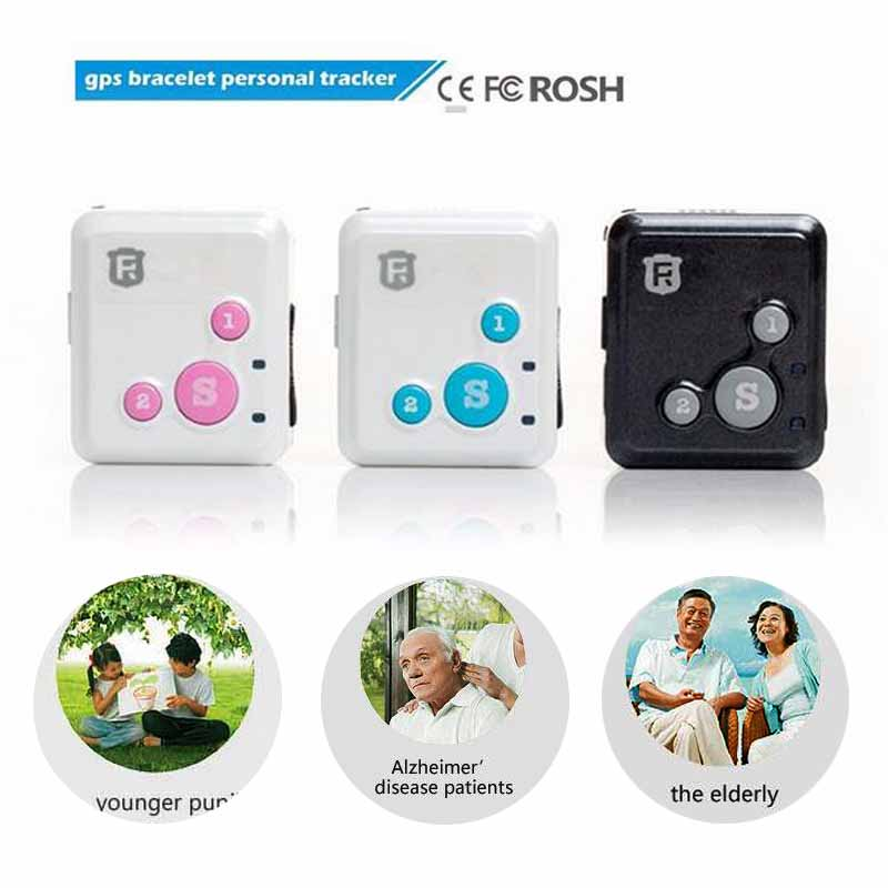 RF-V16 Mini GSM GPRS GPS rastreador SOS comunicador para niños ancianos Personal vida útil aplicación de seguimiento de conversación bidireccional
