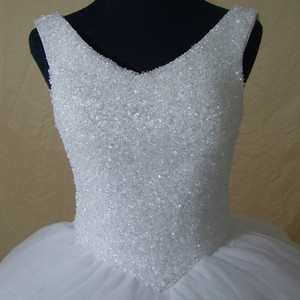 Image 4 - QQ Lover 2020 Plus Size New Luxury Bling Bling Crystals Train Ball Gown Wedding Dress Lace Up Back
