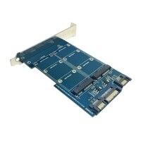 20pcs Lots Dual Port 50mm Mini PCI E MSATA SSD To 2 5 SATA 22pin 7pin