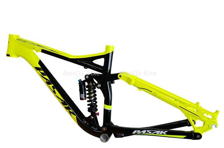 7005 Aluminum Alloy Cycling Frame Soft-tail Frame Full Suspension Downhill Mountain Bike26 27.5 Frame For Disc Oil Brake for 21 speeds15