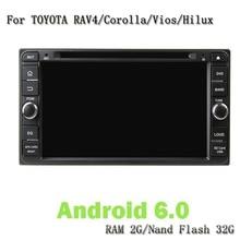 Android 6.0 Gps Navi Player Car Headunit Car Video For Toyota Rav4 Corolla Vios Hilux Land Cruiser Fortuner Prado Terios
