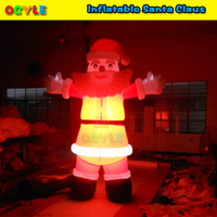 OCYLE 3m 20ft Christmas Decoration Inflatable Santa Claus With Led Lighting Giant Inflatable Santa Claus