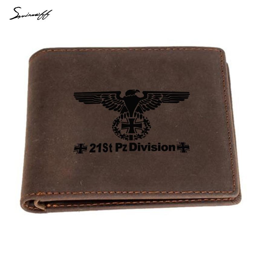 Мужской кошелек с выгравированным изображением Второй мировой войны, немецкий военный кошелек с перекрестным тотемом, с защитой от пятен, ф...