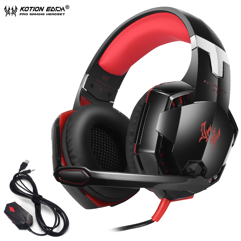 KOTION EACH GS600 Pro PC Gaming Headset Stereo Wired Headphones With Microphone For XBOX 360 PS3 PS4 PC Computer Laptop Phone in Headphone Headset from Consumer Electronics