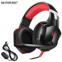 KOTION EACH GS600 Pro PC Gaming Headset Stereo Wired Headphones With Microphone For XBOX 360 PS3 PS4 PC Computer Laptop Phone