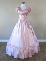 Розовые Атласные Розы Платье Гражданская война костюм ренессанс платье